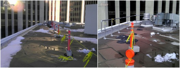 OSHA Railing for Rooftop - Spot Protection