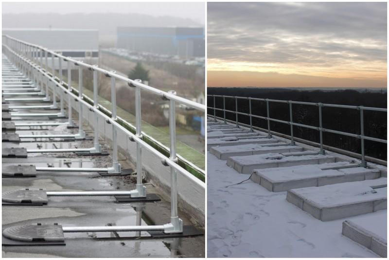 Galvanized Roof Railing