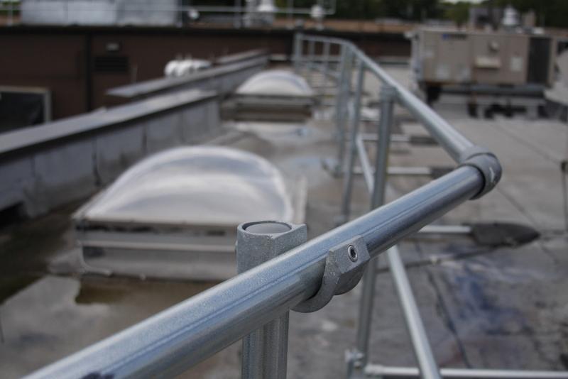 Roof Railing Osha Compliant Amp Non Penetrating Guardrail