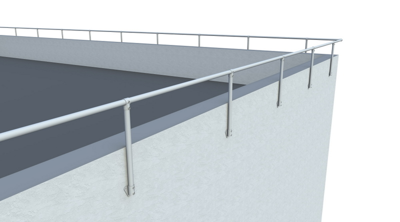 Roof parapet railing mounting a railing directly to the for Parapet roof design pictures