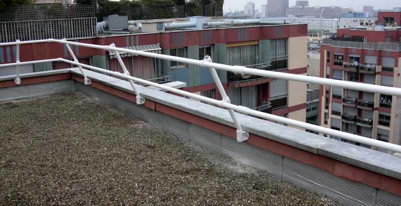 Roof Parapet Railing Mounting A Railing Directly To The