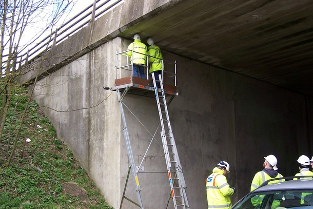 Work Platform for Bridge Work