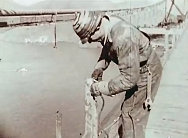 Golden Gate Bridge Construction Fall Protection