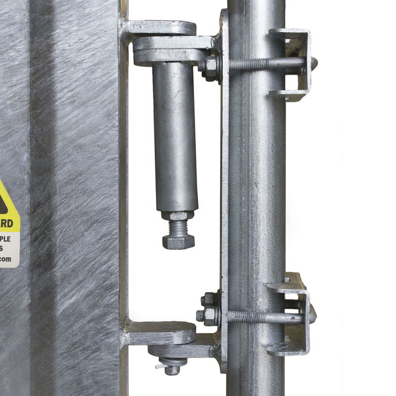Industrial safety gates spring loaded self closing