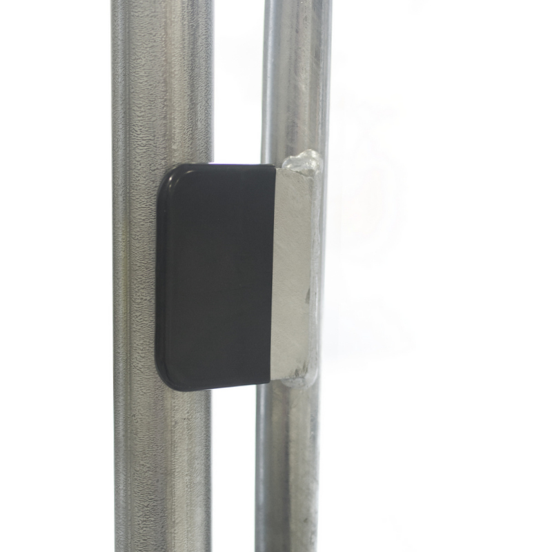 Industrial safety gates spring loaded self closing safety gates safety gate rubberized stopper sciox Image collections