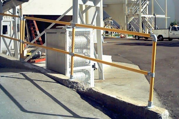 Loading Dock Safety Railing