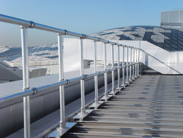 Standing Seam Metal Guardrail