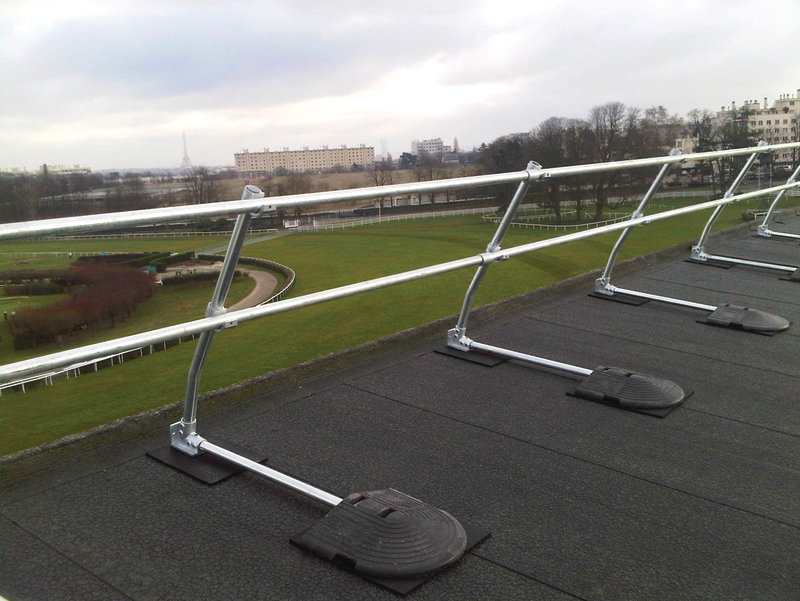 Angled Roof Guard Railing