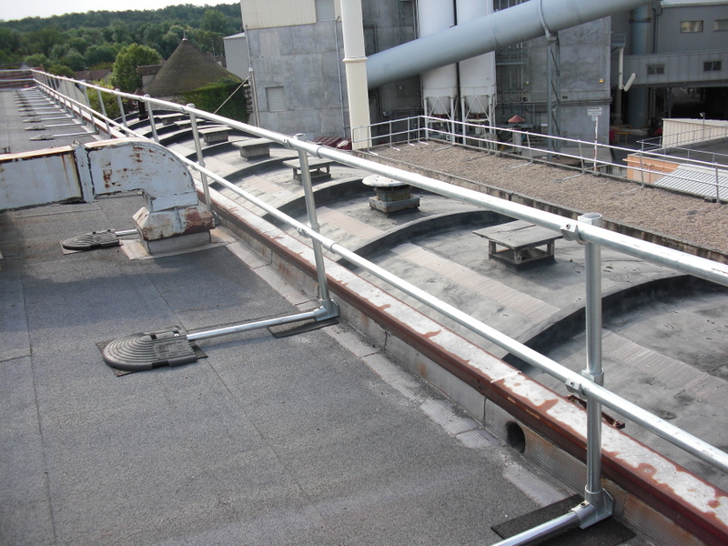 Roof Safety Rails : Keeguard roof fall protection railing rooftop guardrail