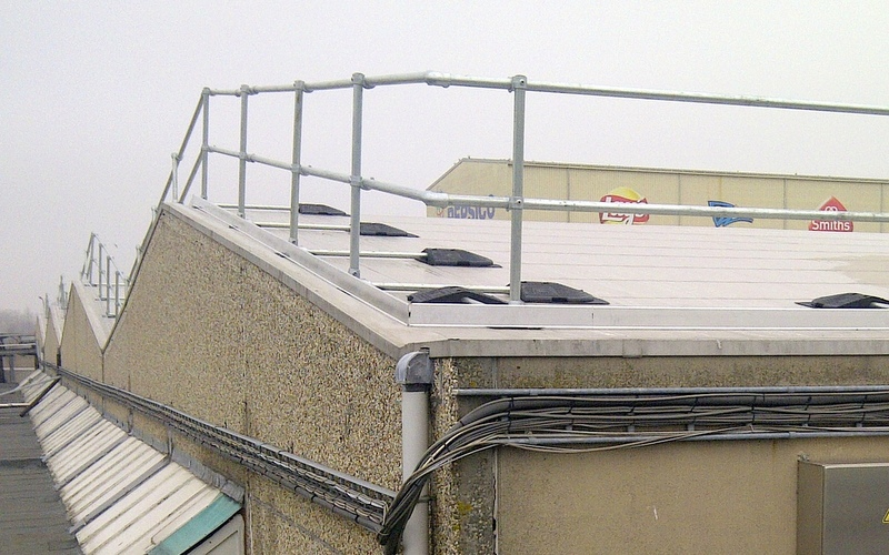 Safety Railing For Sloped Rooftop Fall Protection Blog