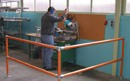 Protect Machinery and warehouse workers using highly visible machinery guardrail