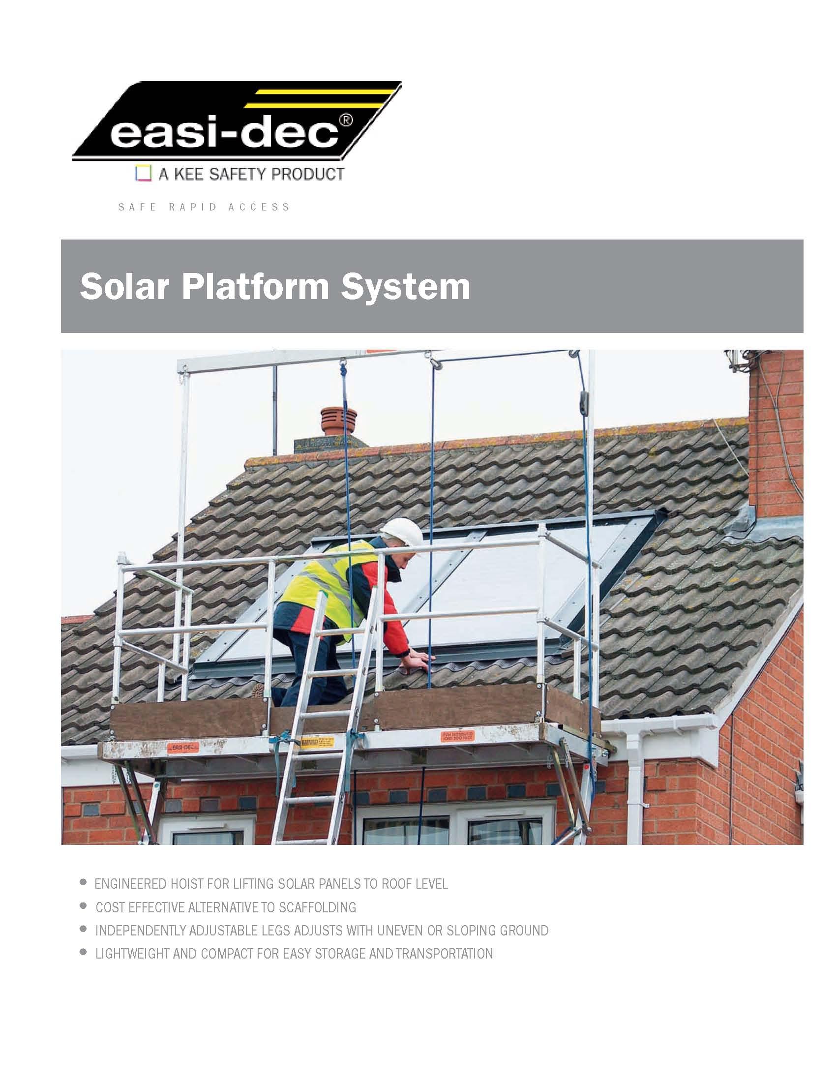 Solar Platform Cut sheet