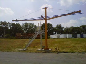 Tether Track Used in Truck Yard