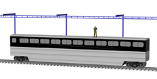 Free Standing Monorail Cantilevered
