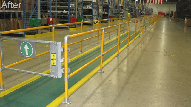 Warehouse Walkway - Protected with Safety Railing