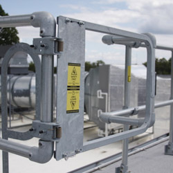 Industrial Safety Gate with Self Closing Hinge